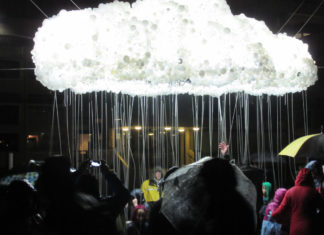 Durham Lumiere 2017 The Rain Cloud Installation