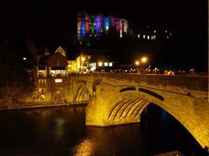 Durham Lumiere 2017 Framwellgate Bridge Durham City