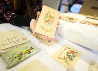 Embroidered WWI Christmas Cards Donated to Durham Record Office