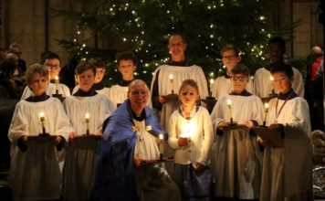 Durham Cathedral Lights Christmas Tree and Blesses Crib