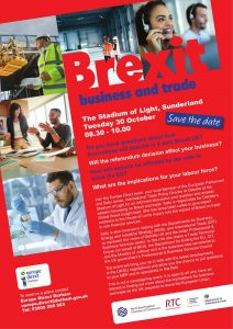 Effects of brexit A4 posters 30 October -1