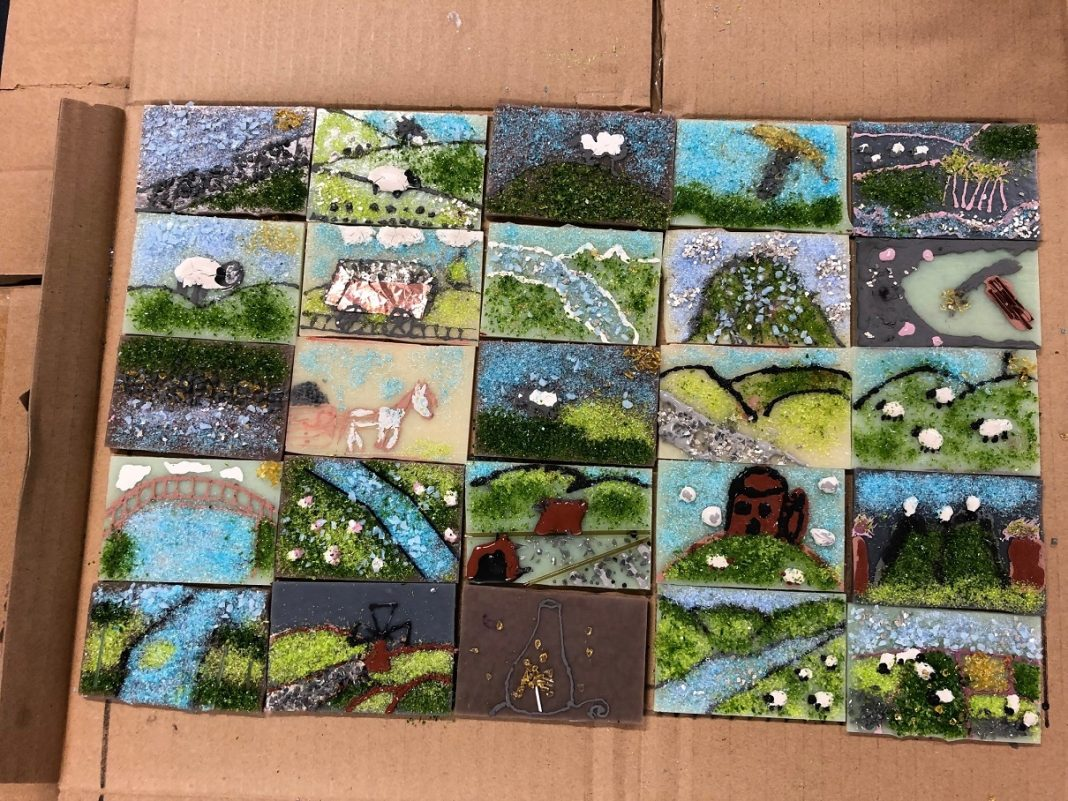 Weardale Tub school workshops - Wolsingham School Tiles