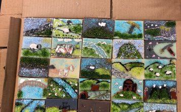Weardale Tub school workshops - Wolsingham School Tiles