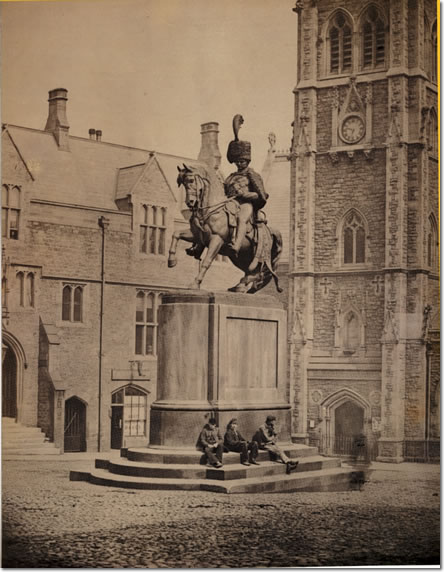 Marquis of Londonderry statue Durham Market Place late 1860s