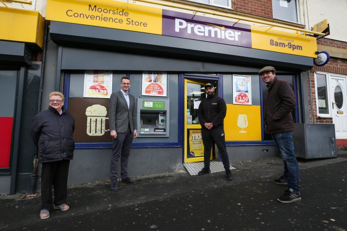 Richard Holden assists in securing new ATM in Consett, County Durham