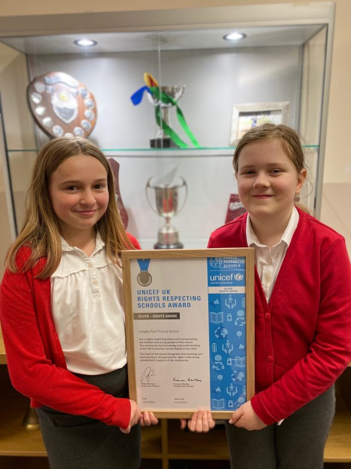 Primary School In County Durham Receives An Award From Unicef