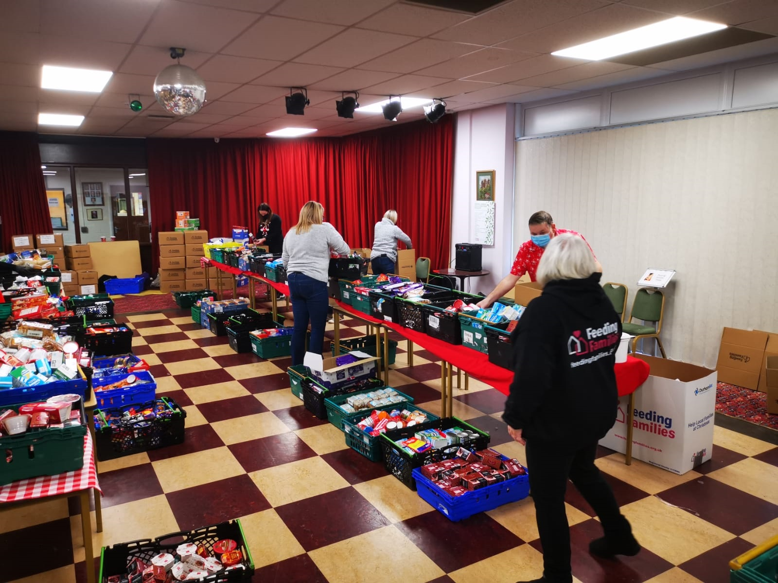 Charity Distributes Food Parcels To Families This Christmas