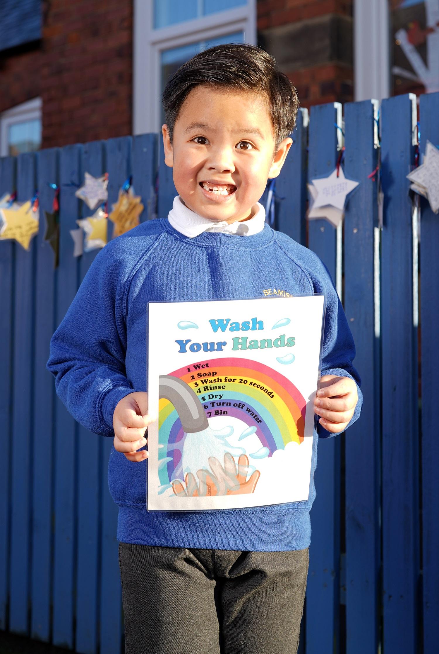 County Durham Schoolchildren Get Creative With Covid-19 Caution Poster Designs