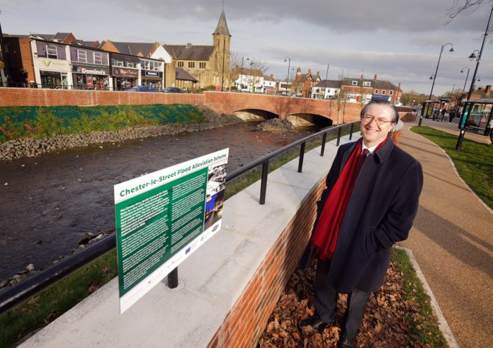 Flood Prevention Works For Chester-Le-Street Worth £6 Million Now Complete