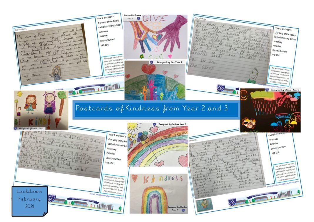 Schoolchildren Spreading Kindness Through Postcards Across Durham