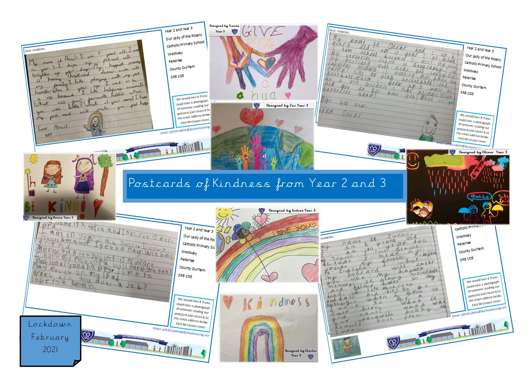 Schoolchildren Spreading Kindness Through Postcards Across Durham