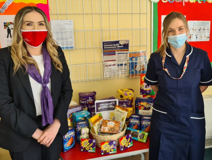 Taylor Wimpey Donates Easter Eggs To The Children Unit At Wansbeck General Hospital