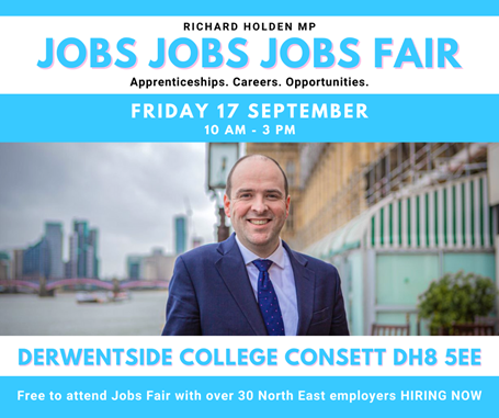 MP Richard Holden To Showcase North East Job Offers At The Job Fairs This September